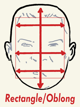 rectangular faces hairstyle male