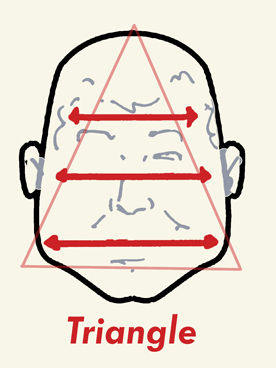 triangular face shape hairstyles male